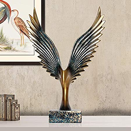 J.Cheng Home Accessories Decorations Dapeng Spread Wing Eagle Ornaments Living Room Wine Cabinet Tv Cabinet Study Desktop Decorations Creative Crafts Resin Decoration. GOLD