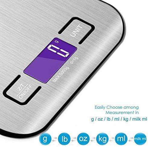 Bilance da Cucina Digitale Bilancia da cucina in acciaio inossidabile con bilancia elettronica da 5 kg Bilancia da cucina per uso domestico Mini bilancia per gioielli Detto