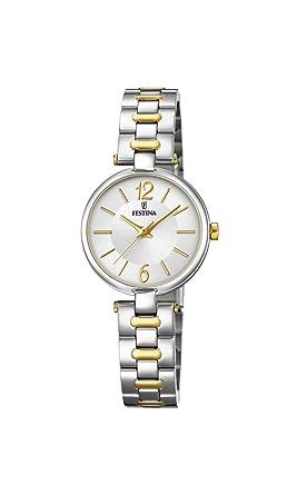 Mit Quarz Analog Armband F203121 Damen Uhr Festina Edelstahl fY7ybgv6