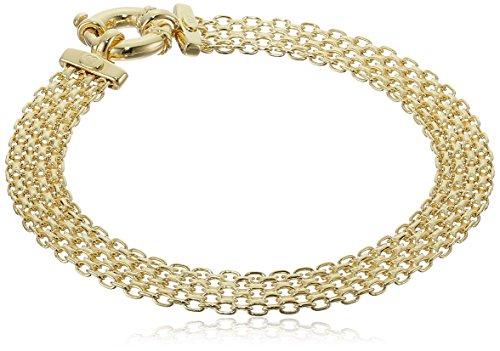 14k Yellow Gold Bismark Link Bracelet, 7.5″