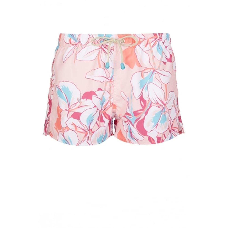 Oiler & Boiler Shortie Floral Print Men's Swim Shorts, Mariposa Pink