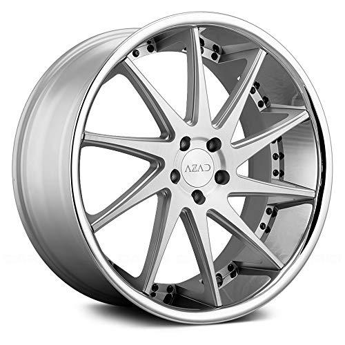 Azad AZ23 Custom Wheel - Brushed Face with SS Lip Rims - 20