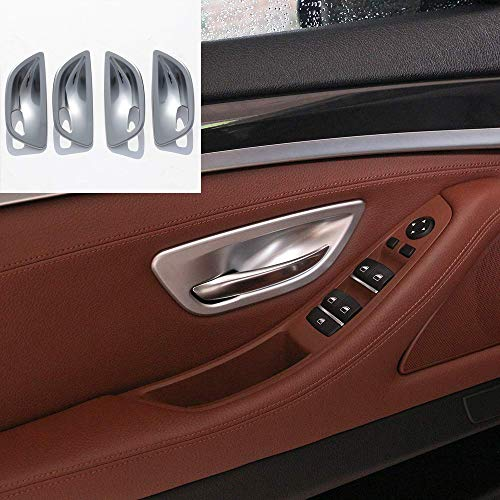 YUECHI forBMW 5 Series F10 520 528 525 2011-2017 ABS Chrome Style Car Interior Door Handle Bowl Cover Trim