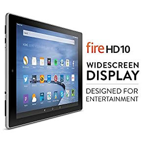 Fire HD 10 Tablet with Alexa, 10.1'' HD Display, Wi-Fi, 16 GB (Silver Aluminium)