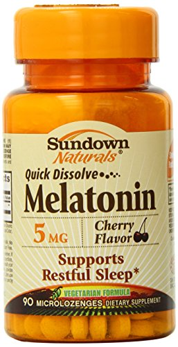 Dissoudre Sundown rapide mélatonine Microlozenge, 5 mg, 90 comte