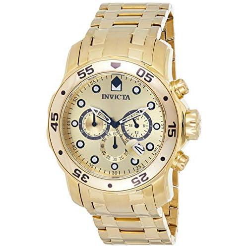 chollos oferta descuentos barato Invicta 0074 Pro Diver Scuba Reloj para Hombre acero inoxidable Cuarzo Esfera oro