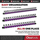 Olsa Tools 3 Pc Set Aluminum Socket Organizer