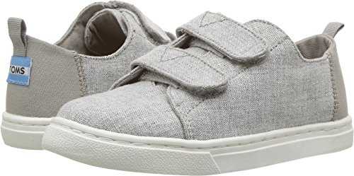 TOMS Tiny Lenny Sneakers Drizzle Grey Slub Chambray 10010688 Tiny Size (Toms For Toddlers On Sale)