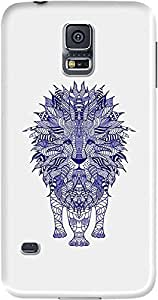 DailyObjects Blue Lion Case For Samsung Galaxy S5 (Back Cover) Multicolored