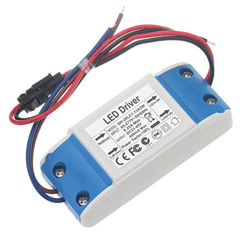 Chanzon Constant Current LED Driver (7-13)x2W 450mA 21V-43V (Input 85-277V AC-DC) Power Supply 450 mA Lighting Transformer Drivers for High Power COB Light Lamp Bulb (Plastic Case)