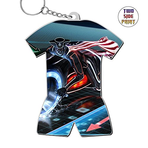 Cute Keychain The Midnight Rider Keyring World Cup Polo Shirt Logo Key Ring Key Fob Alloy Nice Gift (Fobs Rider Key)