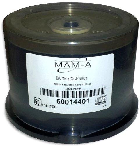 MAM-A  DIGITAL-AUDIO *GOLD INKJET/GOLD* 74-Minute CD-R's 50-