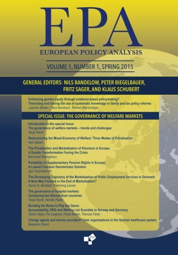 Read Online European Policy Analysis, Volume 1, Number 1: Europe's Welfare Policies: The Frayed Safety Net pdf epub