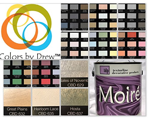 MOIRE WILD SILK ACRYLIC BASED DECORATIVE METALLIC PLASTER PAINT PRECOLORED ROLLER OR BRUSH APPLIED DECORATIVE FINISH THAT LOOKS FEELS LIKE SHIMMERING FINE SILK By Colors By Drew (GALLON) (CBDGAL) by MOIRE WILD SILK (Image #8)