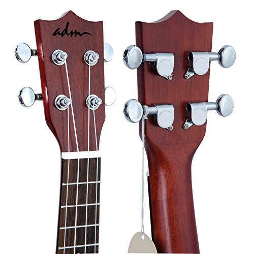 "ADM 23"" Deluxe Mahogany Concert Ukulele Kit with Bag, Strap, Tuner and Picks - Image 2"