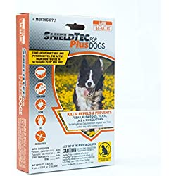 ShieldTec Flea and Tick Prevention for Dogs, 4 Dose, Large