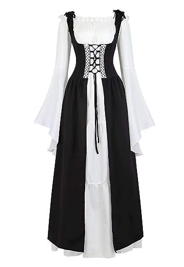 renacentista Vestido Medieval Mujer Vintage Victoriano ...