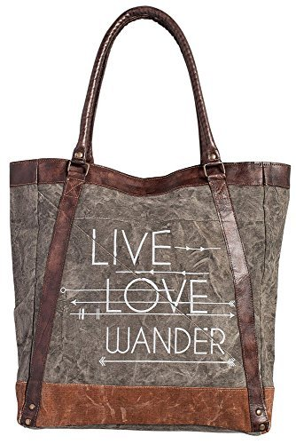 Mona B Live Love Wander Tote Bag M-3701 Trendy Canvas Tote
