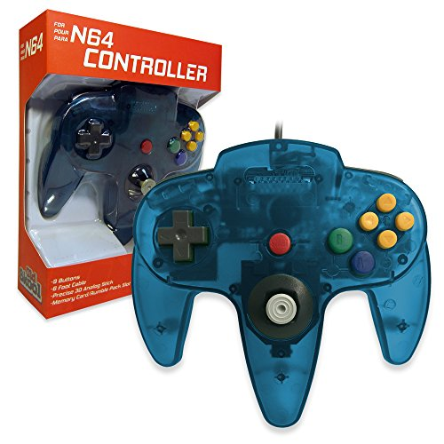 Old Skool Classic Wired Controller Joystick for Nintendo 64 N64 Game System - Turquoise (Old Nintendo 64 Games)