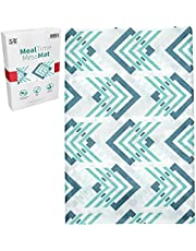 S&T INC. 539701 Water Resistant, Machine Washable Meal Time Mess Mat - 42 Inch x 42 Inch, Arrows Print