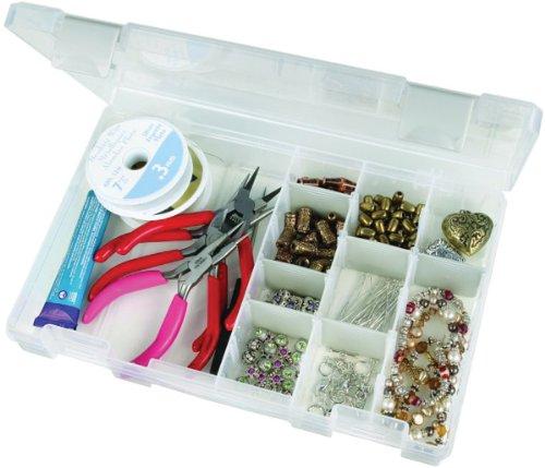 Tarnish Inhibitor Medium Four Compartment Box in Translucent