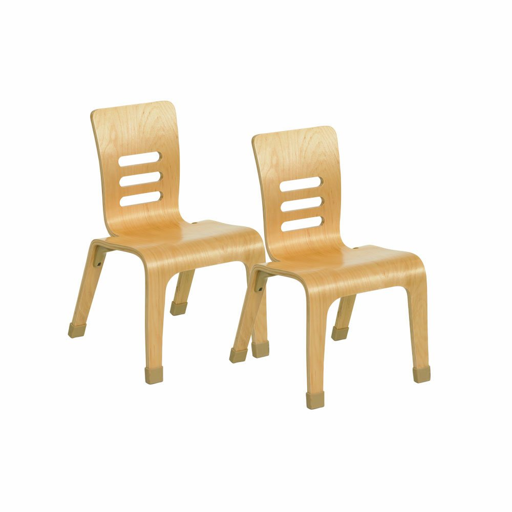 ECR4Kids 12'' Bentwood School Chair for Students, Natural (2-Pack)