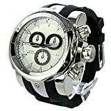 Fashion Men's Three-dimensional tricyclic Big dial Silicone Band Quartz Wrist Watch