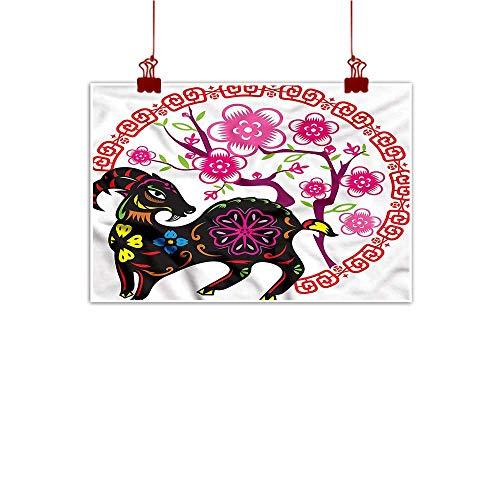 Anzhutwelve Simple Life Minimalist Goat,Chinese Year Asian Calendar