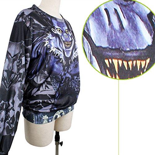 Stampa Shirt Digitale Felpe Belsen Donna Dearh Skull Lovers T ETcHqW