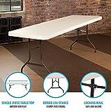 Lifetime 22984 Folding Utility Table, 8 Feet, Almond