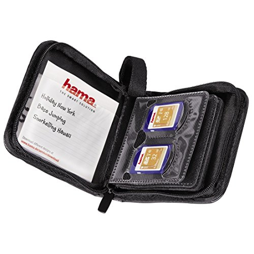 Hama 12 SD/MMC Memory Cards Wallet - Black
