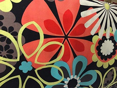 Retro Funky Mod Flower Power WINDOW CURTAIN VALANCE MADE FROM COTTON FABRIC