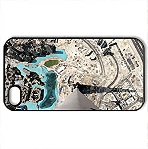 View from the Top - Case Cover for iPhone 4 and 4s (Modern Series, Watercolor style, Black)