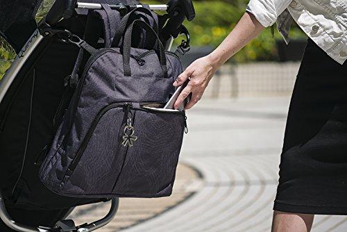 okiedog TREK 37013 bolsa de pañales Mochila incl. accesorios URBAN, jeans SCRIBBLES negro