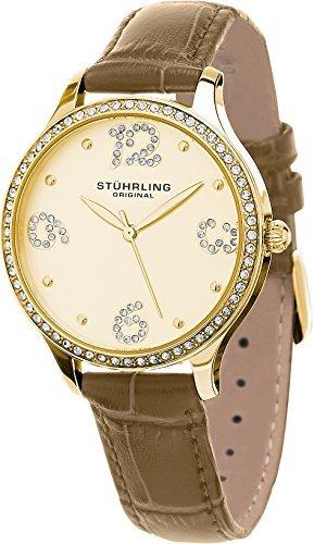 Stuhrling Original Women's 560.04 Symphony Quartz Leather Strap Watch