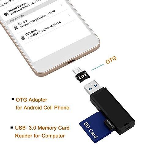 USB3.0 Memory Card Reader+ OTG Adapter, 2 Slots USB3.0 Memor