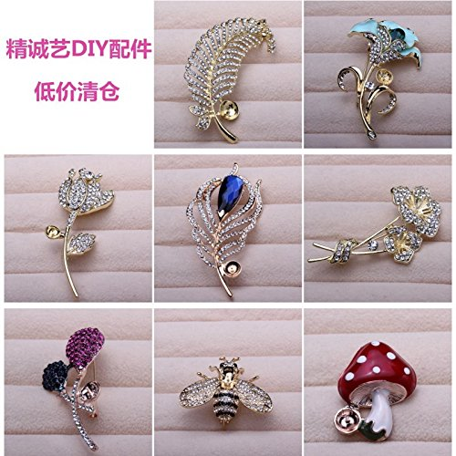 Accessories natural freshwater pearl diamond corsage brooch care accessories for Bianzhu empty beads (Diamond Freshwater Brooch)