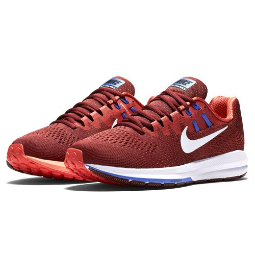 Nike Men's Air Zoom Structure 20 Running Shoe, Red