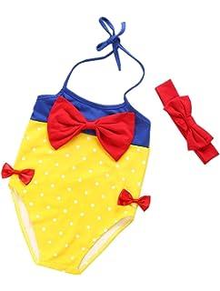 ff866143a117 ARAUS Costume da Bagno da Bimba Nuotare con Fascia di Cappelli Principessa