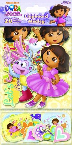 Sandylion Dora Chipboard Medleyth Glitter Sticker