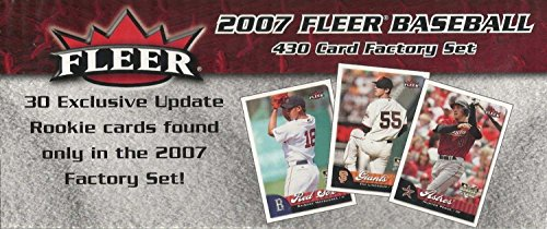 2007 Fleer MLB Baseball Factory Sealed Set with 30 Exclusive Update Rookie Cards Found Only in this (Fleer Factory Sealed Baseball)