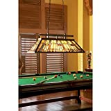 Quoizel TFIK348VA Inglenook Tiffany Pool Table Island Chandelier - 3-Light - 300 Watts - Valiant Bronze (18