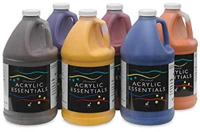Chroma 59006 Acrylic Essential Set, 0.5 gal Bottle, Assorted Secondary Colors (Pack of 6)