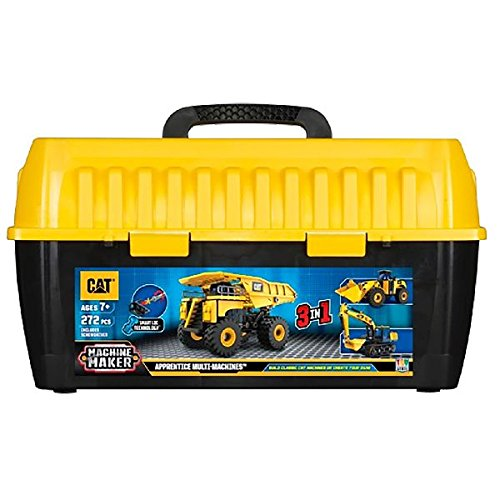 Toy State Caterpillar CAT Apprentice Ultimate Machine Maker Dump Truck with Wheel Loader and Excavator Construction Building ()