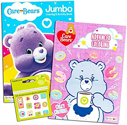 - Amazon.com: Care Bears Coloring Book Super Set -- 2 Jumbo Coloring Books  With Bonus Stickers (Care Bears Party Supplies): Toys & Games