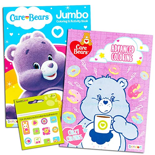 Care Bears Coloring Book Super Set -- 2 Jumbo Coloring Books with Bonus Stickers (Care Bears Party Supplies)
