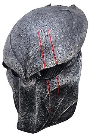 Lobo 5 depredador máscara de cara completa malla de alambre máscara para Paintball y Airsoft,