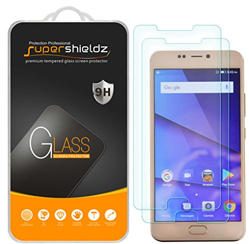 [2-Pack] Supershieldz for BLU VIVO 8 Tempered Glass Screen Protector, Anti-Scratch, Bubble Free, Lifetime Replacement
