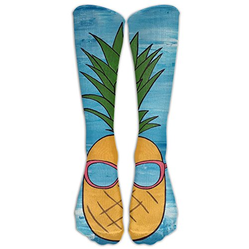 Beach Pineapple With Sunglasses Smile Emoji Unisex Outdoor Protective Fashion Stocking Crew Above Knee Tube - Online Canada Sunglasses