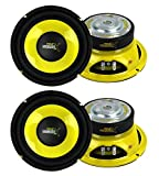 4) Pyle PLG64 6.5'' 1200 Watt Car Mid Bass/Midrange Subwoofers Sub Power Speakers